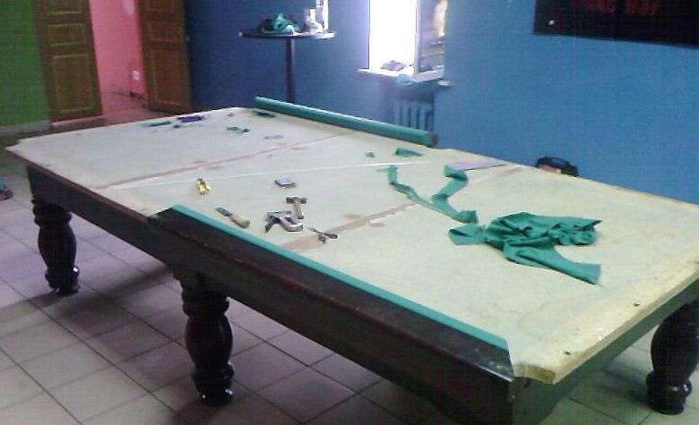 Установка бильярдного стола своими руками 4